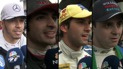 Drivers report back after the race in Brazil