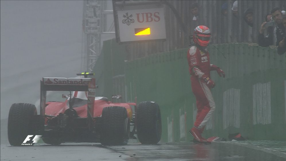 Race: Raikkonen crash brings out red flags in Brazil