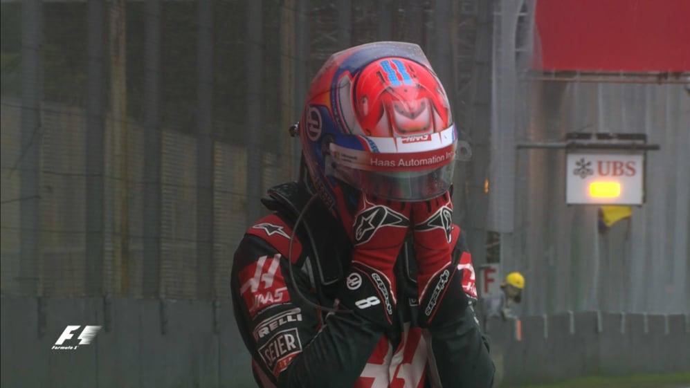 Grosjean's race over before it begins