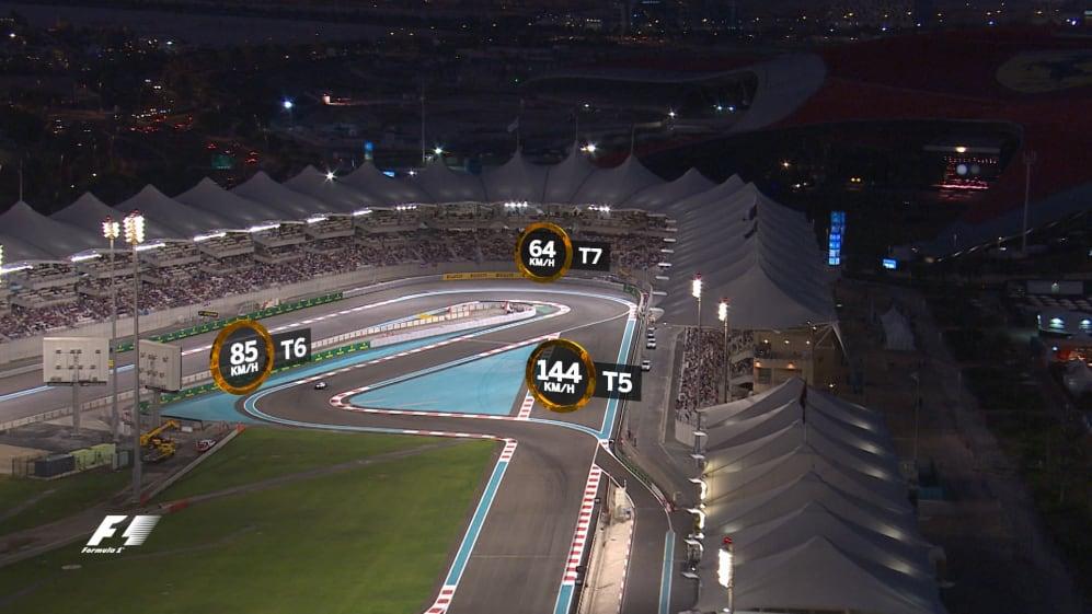 A bird's-eye view of the Yas Marina Circuit