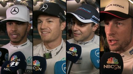 Drivers report back after qualifying in Abu Dhabi