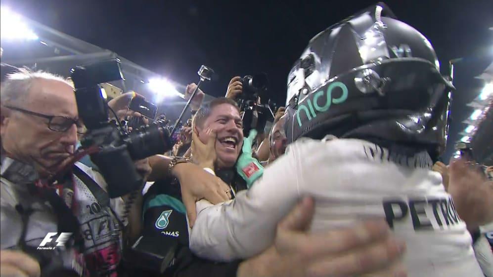 The moment Nico Rosberg won the 2016 World Championship