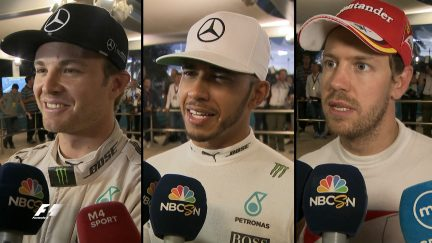 Drivers report back after the race in Abu Dhabi