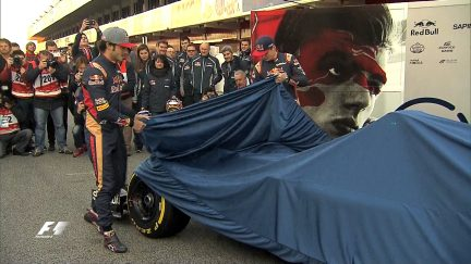 Revealed: Verstappen and Sainz present Toro Rosso's 2016 livery