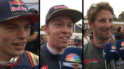 Drivers react in Melbourne Qualifying