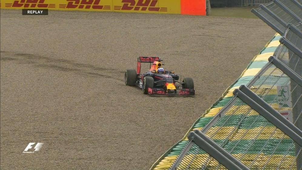 FP1: Ricciardo beached as rain sets in