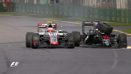 Race: Huge crash as Alonso and Gutierrez bring out the red flag