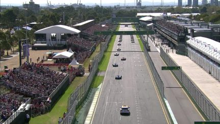 Race: Aborted start as Kvyat stops on way to grid