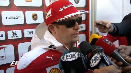 Raikkonen reports back after first run with 'halo' safety device
