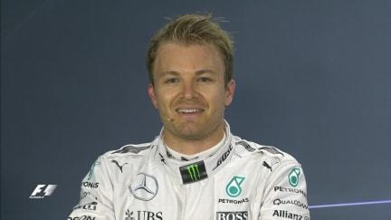 Nico Rosberg interview nach dem Qualifying in Bahrain