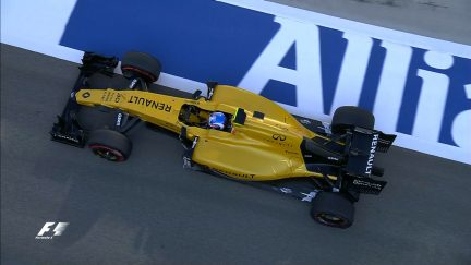 FP3: Palmer suffers puncture late in session