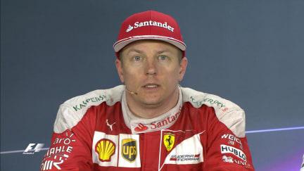 Kimi Räikkönen haastattelu kilpailun jälkeen Bahrainissa