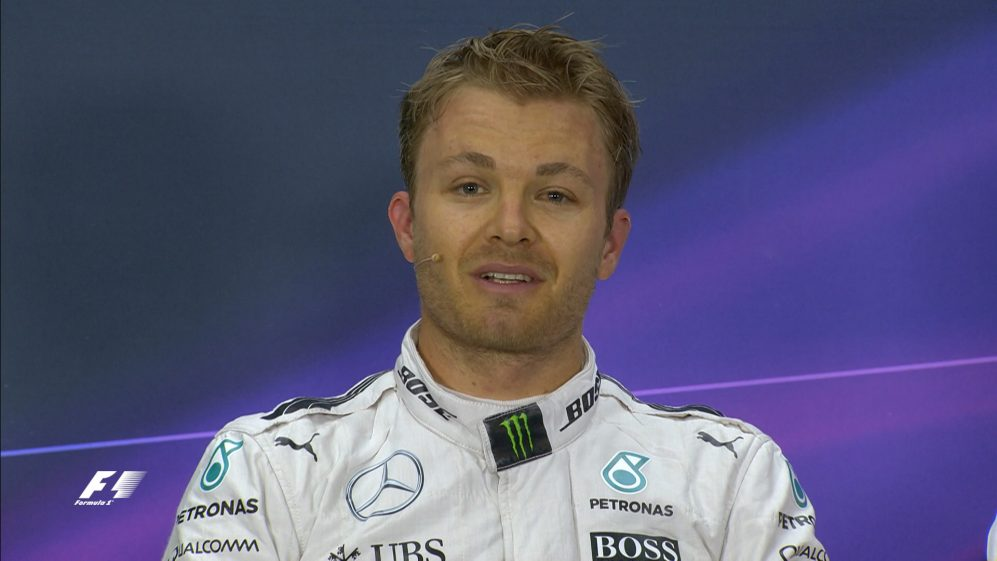 Nico Rosberg interview nach dem Qualifying in China