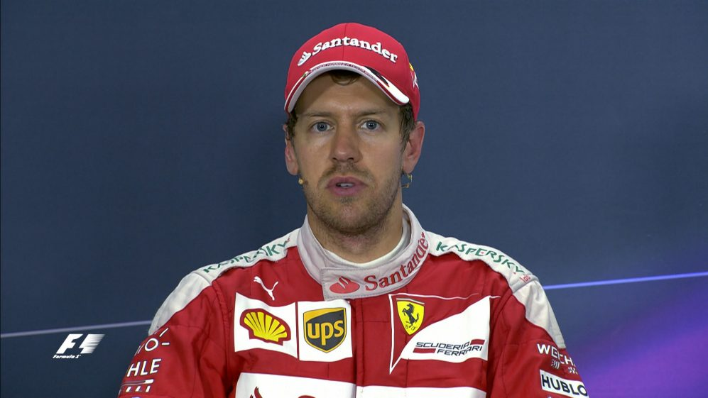 Sebastian Vettel interview nach dem Rennen in China