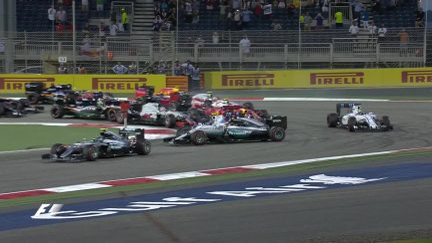 Bottas and Hamilton's view on their Turn 1 collision
