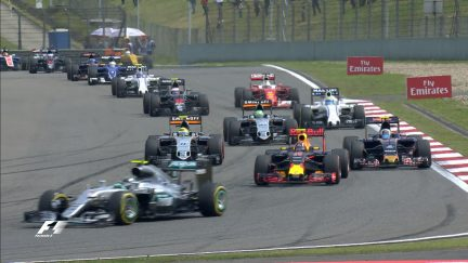 Race: Chaotic opening laps as Ferraris collide