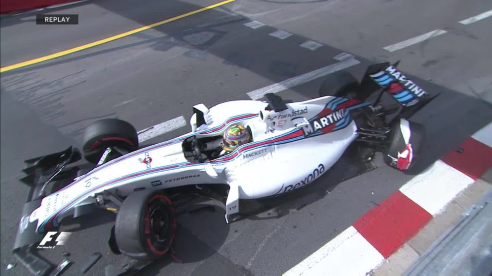 FP1: Massa crashes out in early stages