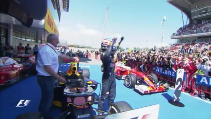 Verstappen stuns with maiden win in Spain