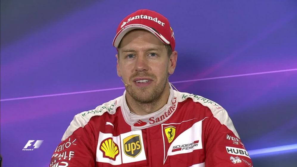 Sebastian Vettel interview nach dem Rennen in Spanien