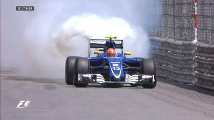 Qualifying: Nasr's hopes go up in smoke
