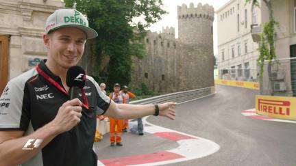 Hulkenberg takes a closer look at Baku City Circuit