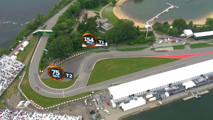 A bird's-eye view of the Circuit Gilles-Villeneuve 2016