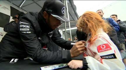 The drivers meet the fans in Montreal