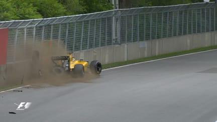 FP3: Magnussen falls prey to Montreal walls