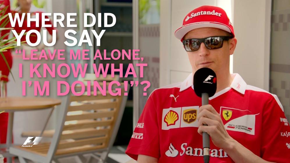 Grill the grid - Kimi Raikkonen