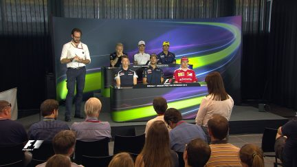 The drivers face the press in Austria 2016