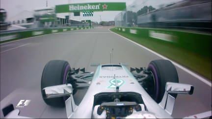 Onboard pole position lap - Lewis Hamilton, Canada 2016