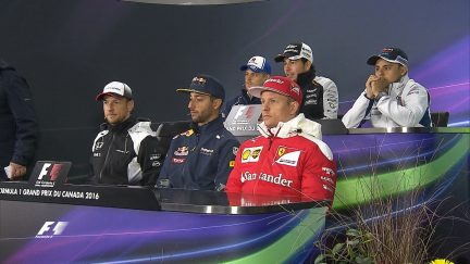 The drivers face the press in Canada 2016