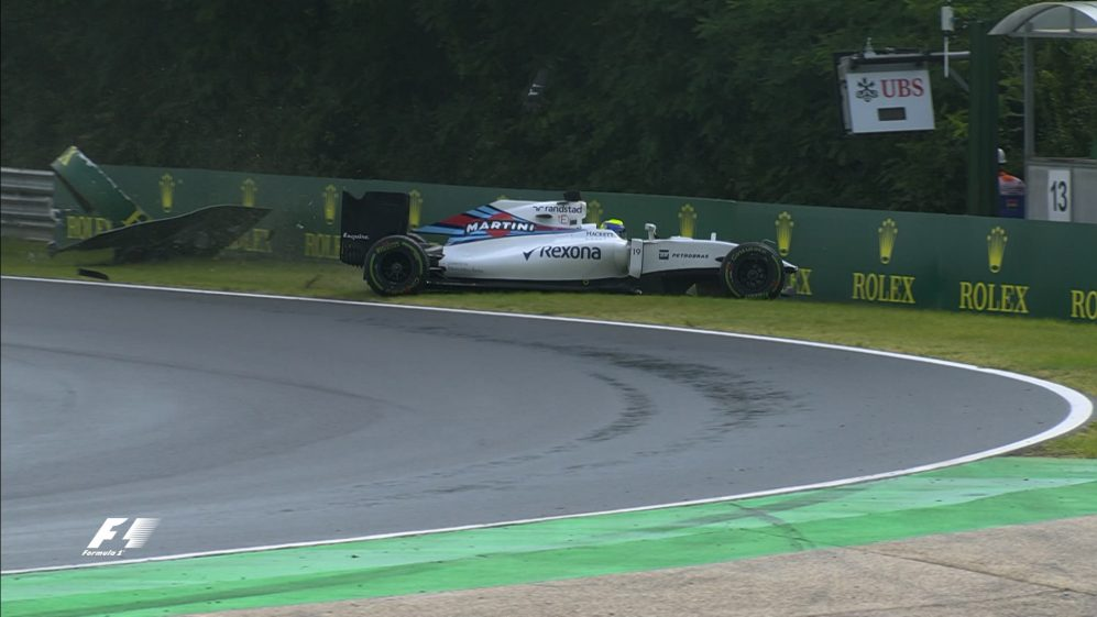 Qualifying: Massa and Haryanto into the barriers