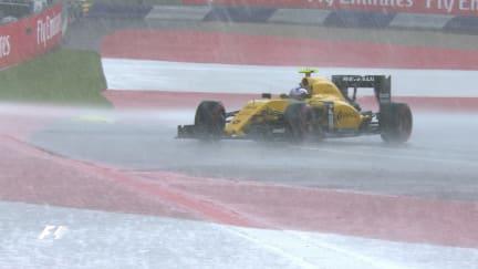 FP2: Sudden downpour sends drivers sliding