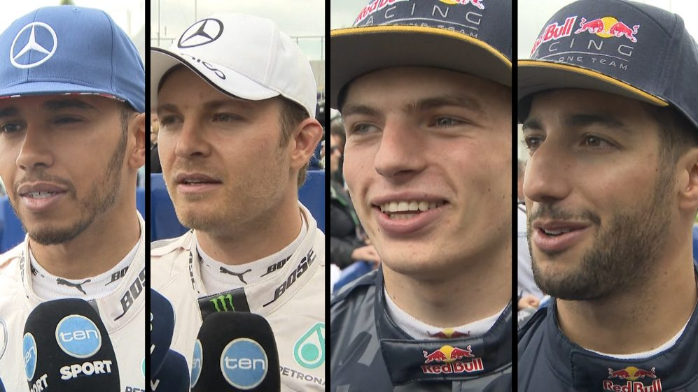 Drivers report back after qualifying in Great Britain