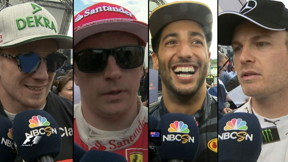 Drivers report back after the race in Germany
