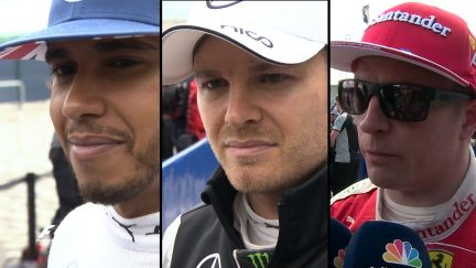 Drivers report back from a thrilling race in Great Britain