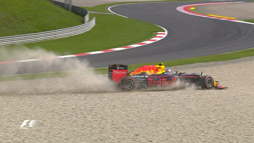 FP1: Kerbs catch out Verstappen twice