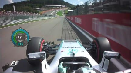 Onboard pole position lap - Nico Rosberg, Belgium 2016
