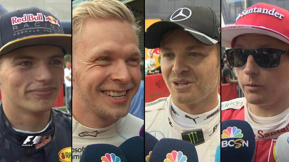 Drivers report back after close qualifying in Belgium