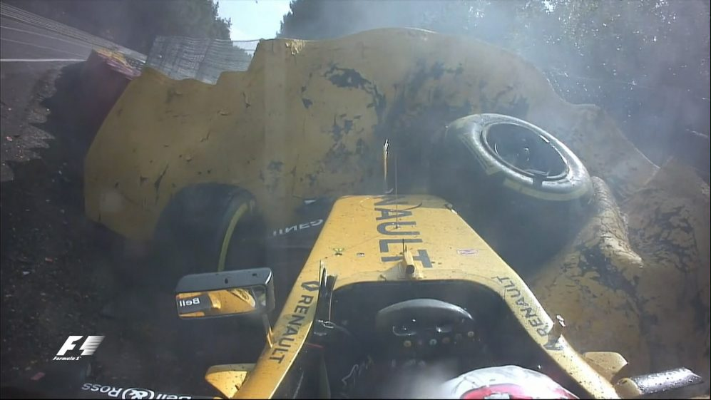 Race: Huge Magnussen crash brings out red flags at Spa