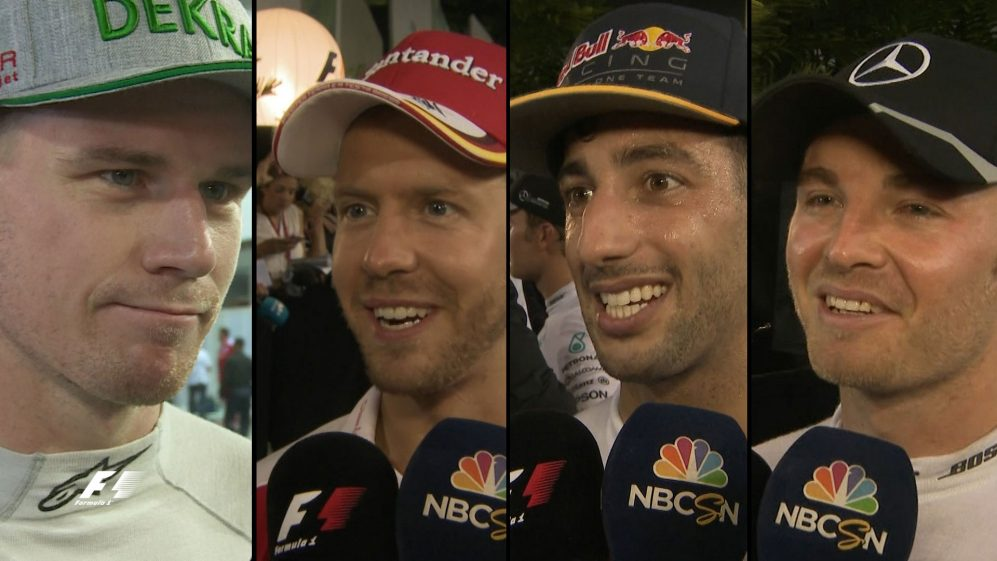 Drivers report back after tough race in Singapore