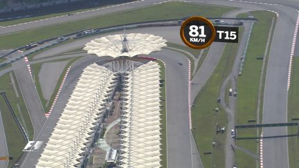 A bird's-eye view of the Sepang International Circuit