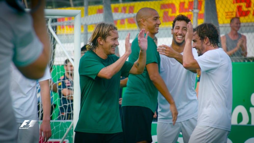 Heineken Champions of the Grid 5-a-side football match