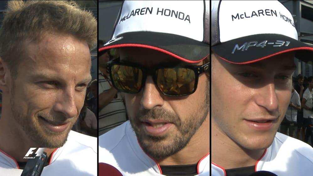 Button, Alonso and Vandoorne on McLaren's 2017 line-up change