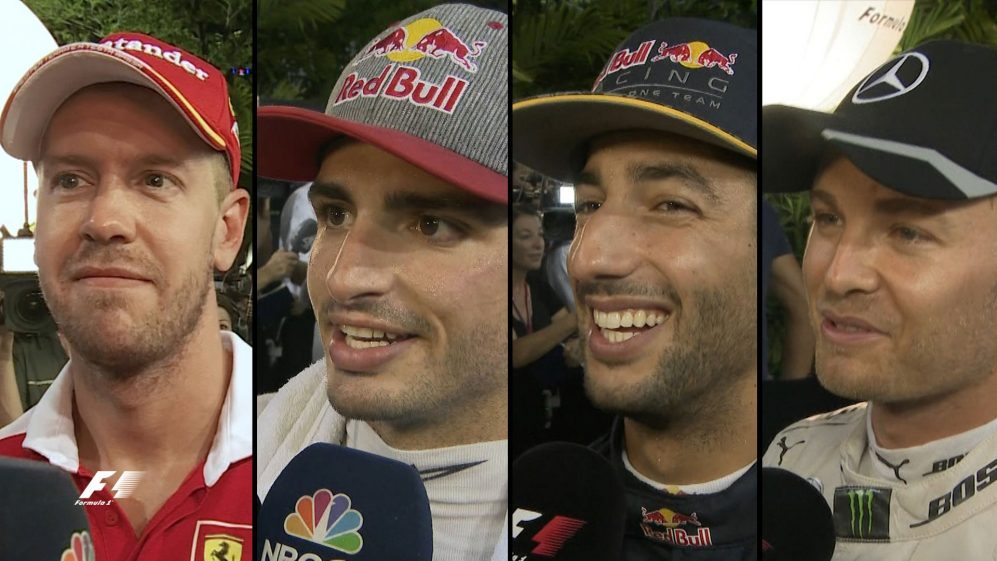 Drivers report back after qualifying in Singapore