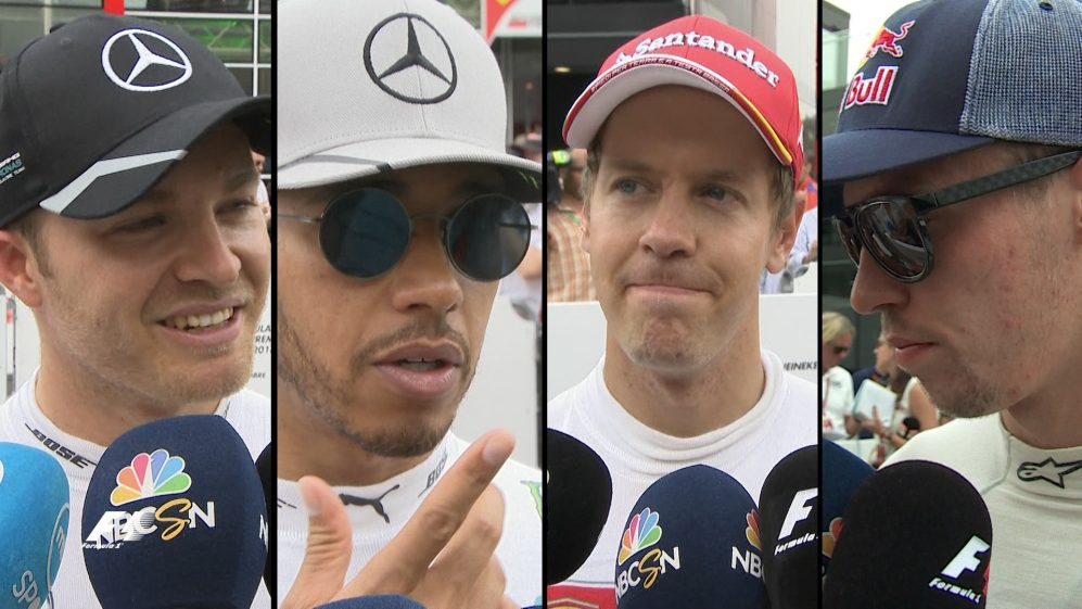 Drivers report back after the race in Italy