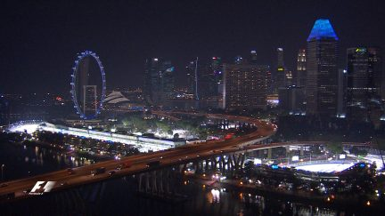 Take a thrilling helicopter ride over stunning Singapore