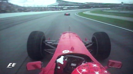 Classic onboard: Schumacher battles past Coulthard at Indy