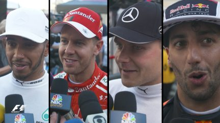 Drivers report back after qualifying in the USA